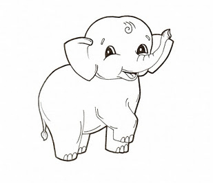 Baby elephant coloring pages animal for Baby zoo animals coloring pages
