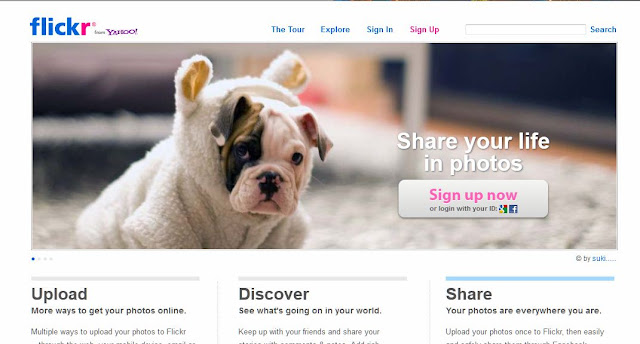 flickr homepage