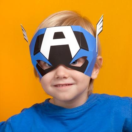 Маска супергероя из бумаги своими руками