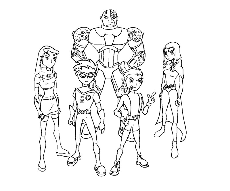 teen titans coloring pages - photo#13