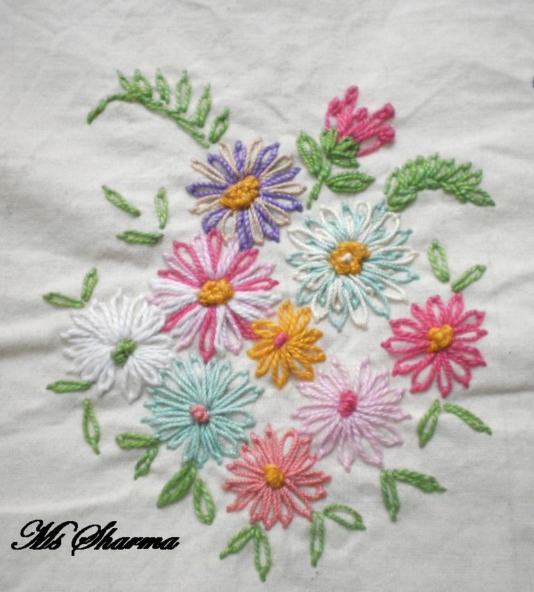 Embroidery designs lazy daisy makaroka