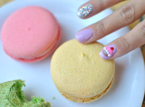 3d cupcake nail art