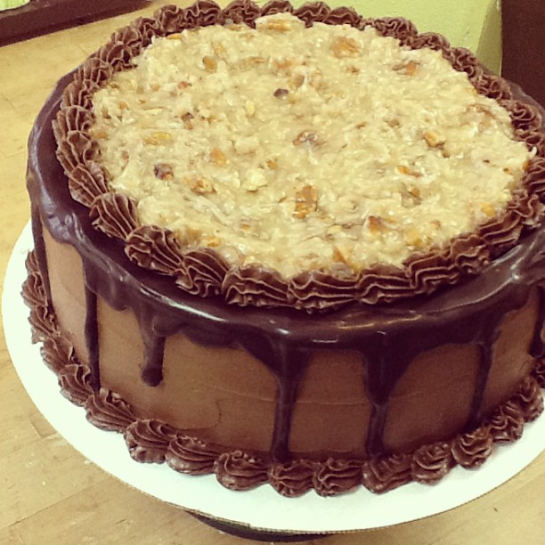 German Chocolate Funny Cake