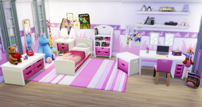 My sims 4 blog kids bedroom recolors by simpurrr for Rooms 4 kids