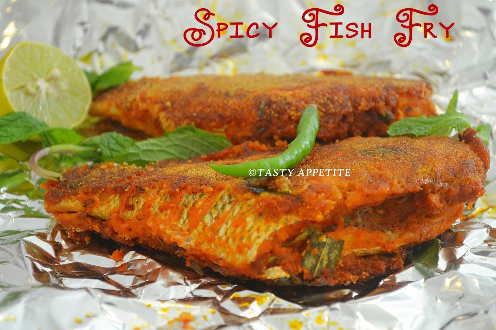 Hot n spicy fish fry meen varuval fish fry recipes for Fry fish recipes