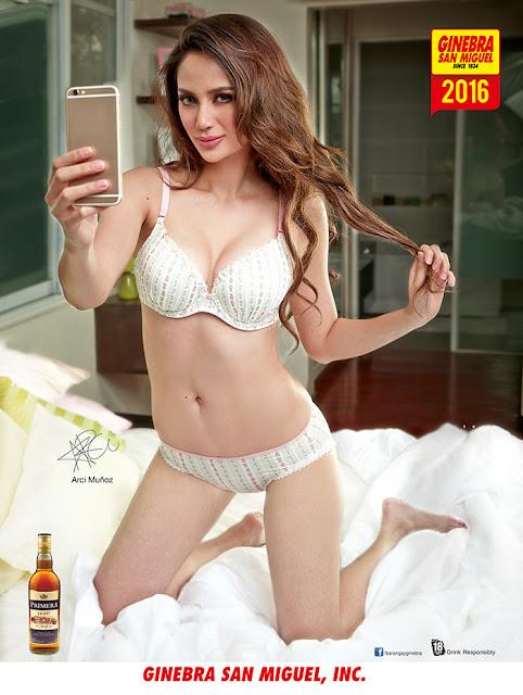 Arci Munoz 2016 Ginebra San Miguel Calendar Girl   Holiday Download