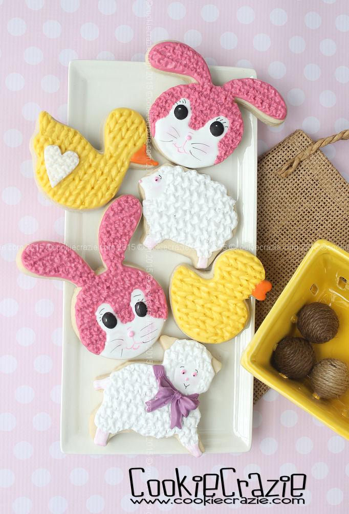 http://www.cookiecrazie.com/2015/03/knittedcrocheted-spring-animal-cookies.html