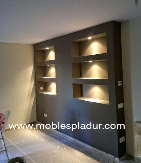 Pladur barcelona arrimadero sof s - Muebles en pladur ...