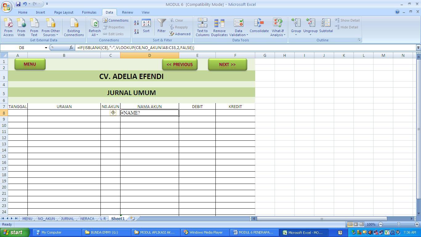 cara membuat jurnal umum di ms excel delia s tutorial blog