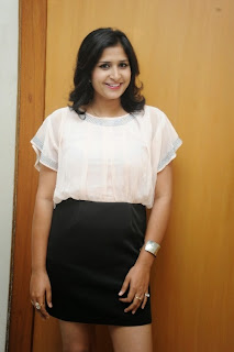 Actress Kusubhu Pictures in Mini Skirt at Bhandook Movie Song Launch 2