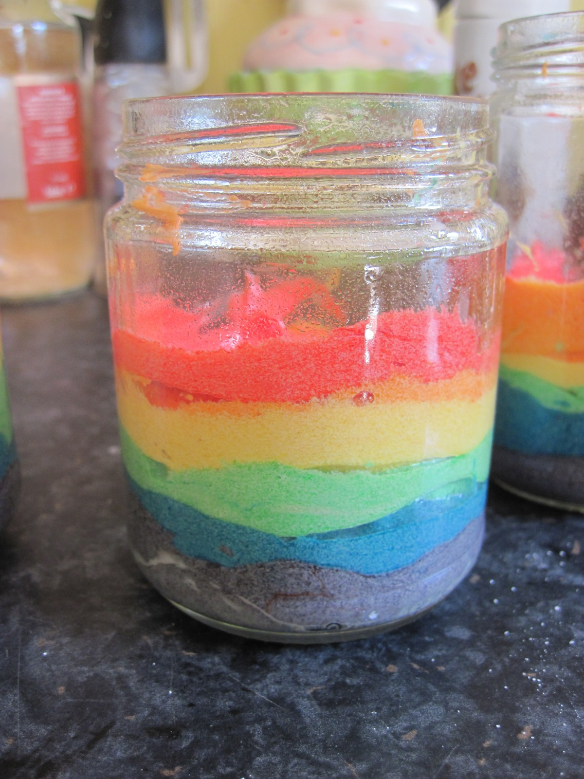 Dirty Nails and Jam Jars: Rainbow Cake In A Jar!