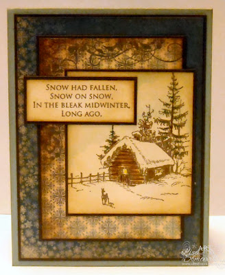 Artistic Outpost - stamps MidWinter, pattern paper Bo Bunny www.lisasomerville.com