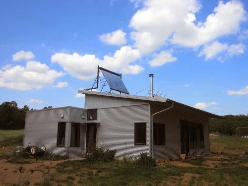 Passive solar modern prefab home celebrates a birthday for Passive solar prefab homes