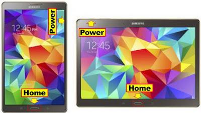 Screen Capture atau Screenshot Layar Samsung Galaxy Tab S