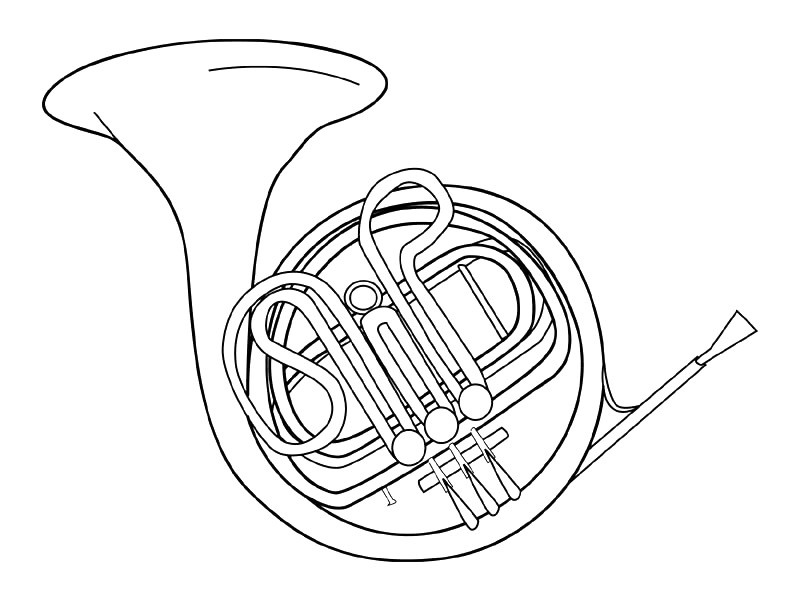 free music instrument coloring pages - photo#15