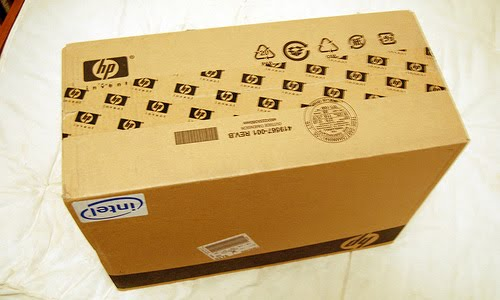new hp laptop box