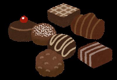トリュフ チョコレートのイラスト