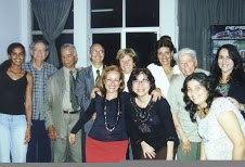 Com coleguinhas jornalistas, na Associação Brasileira de Imprensa, em 2004