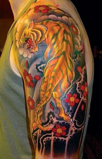 cool dragon and tiger tattoo designs
