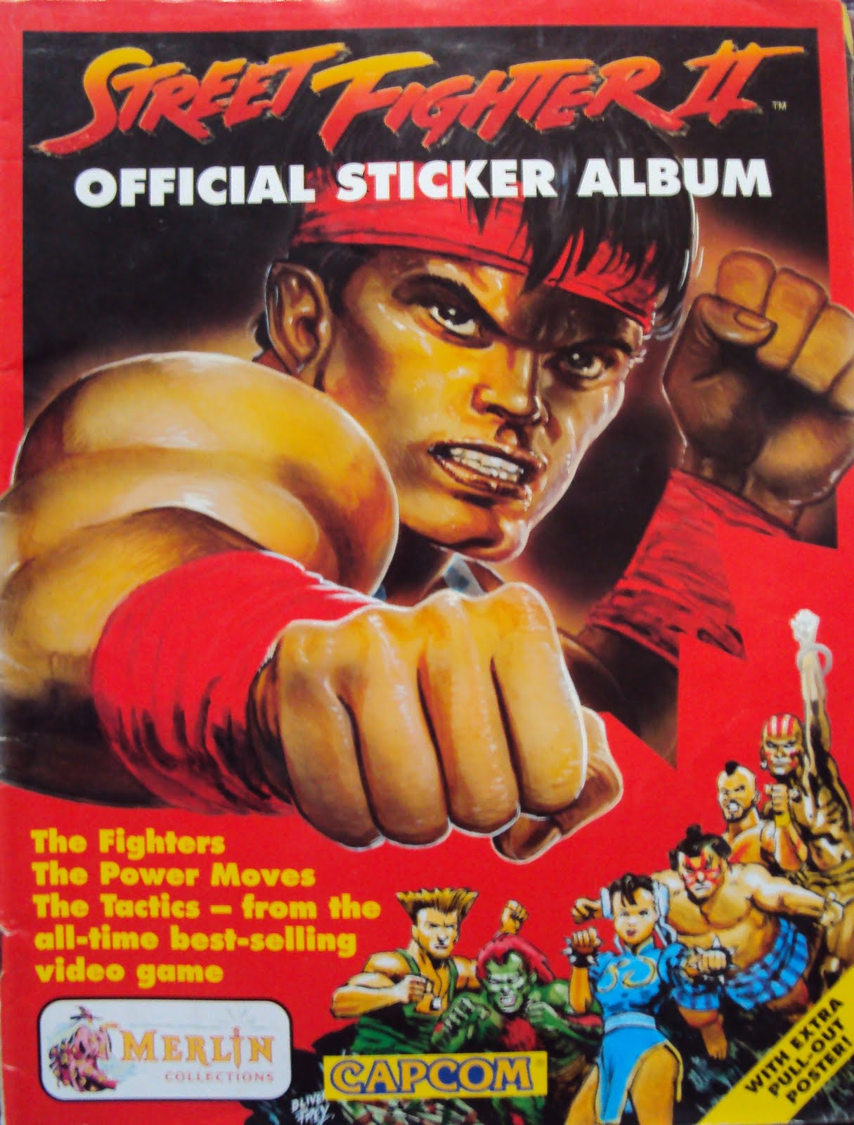 Now a look at both street fighter sticker albums first the original this album has some great oli frey artwork all the way through whether as the