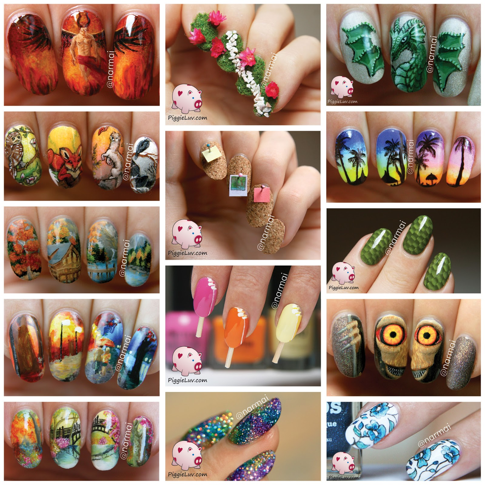 Piggieluv My 14 Favorite Nail Art Designs Of 2014