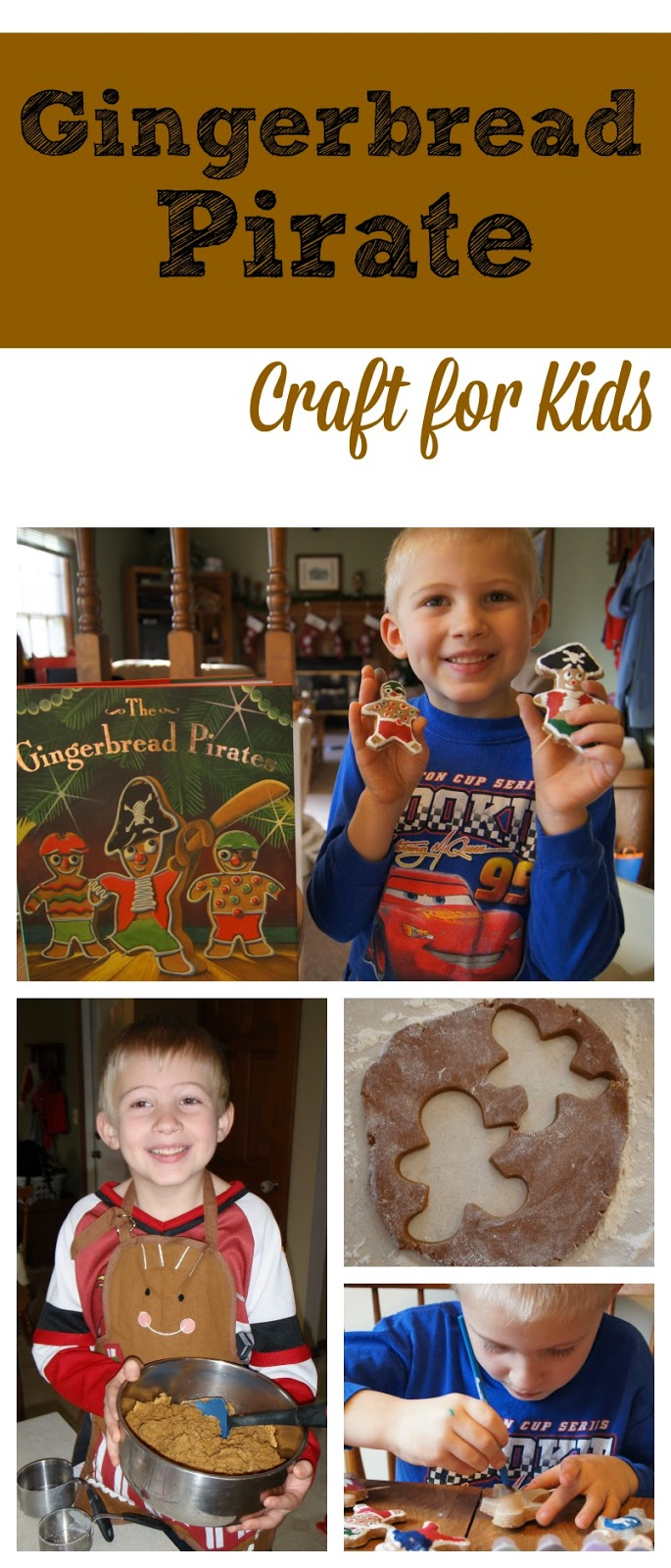 Gingerbread Pirates Craft for Kids is one of our favorite Christmas Crafts for kids - includes Cinnamon Ornament Dough Recipe