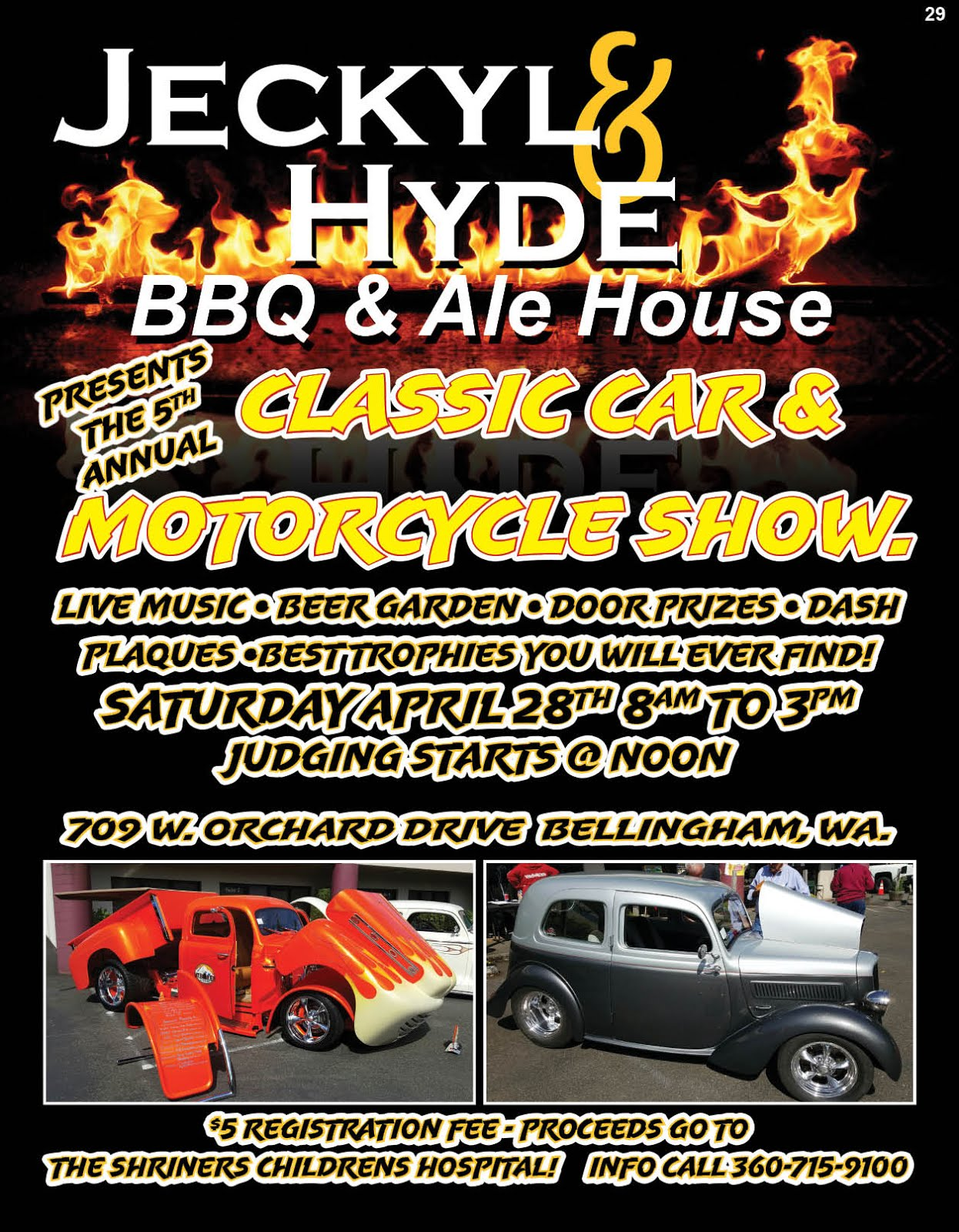 Jeckyl & Hyde BBQ & Ale House 5th Annual Classic Car & Motorcycle Show!!