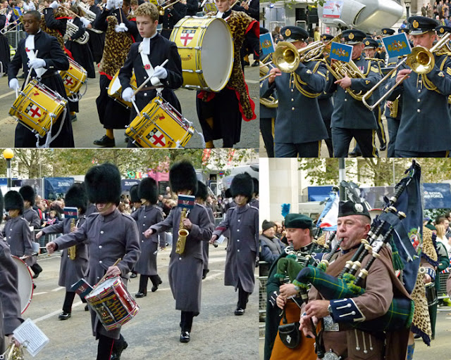 Lord Mayor's Show, music, Christ's Hospital School Band, Royal Yeomanry, London Scottish