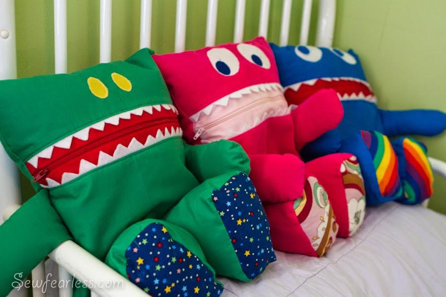 Almofadas para guardar pijamas
