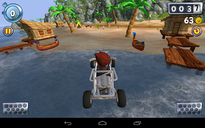 Beach buggy blitz the racing game: Driving the car on beach
