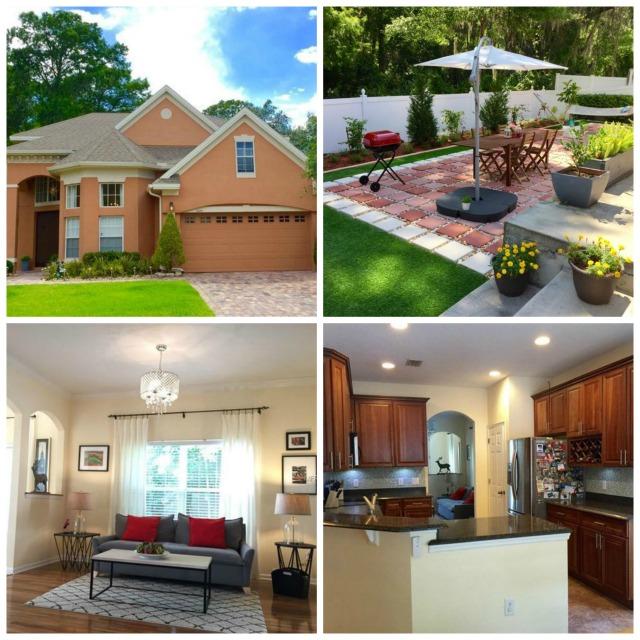 Home in Orlando Subdivision. Paved patio, granite counters