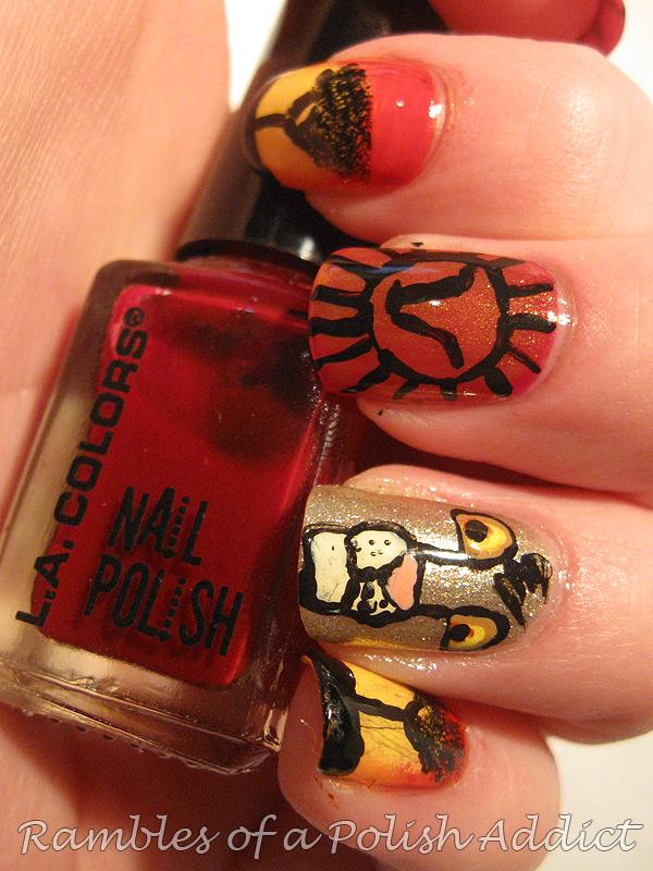 Disney nail art challenge day 7: The lion king | Rambles of a Polish ...