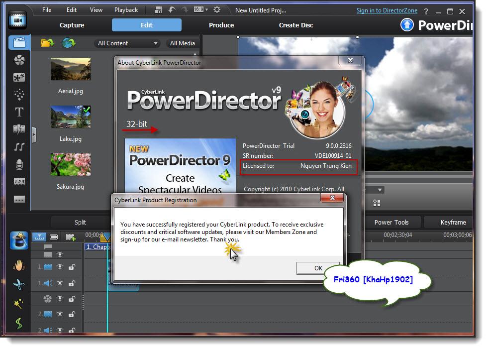 Cyberlink powerdirector v9 0 0 2316