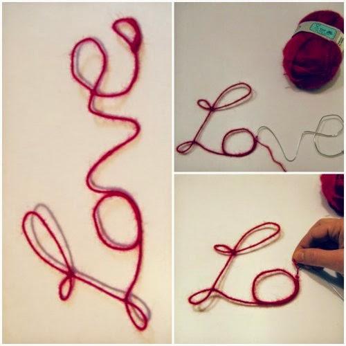Cubriendo con lana la palabra de alambre