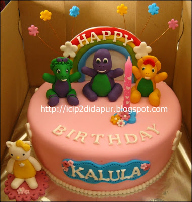 ICIP-ICIP DI DAPUR: Barney Birthday baked sweat bread for Kalula