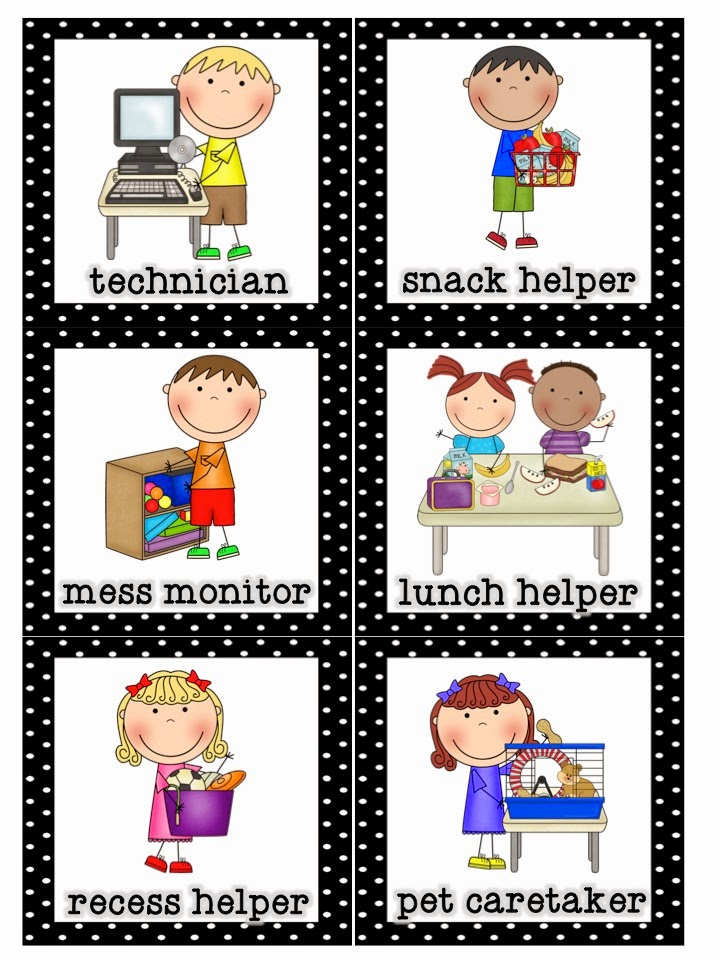 preschool helper jobs mrs lirette s learning detectives classroom helpers set 635
