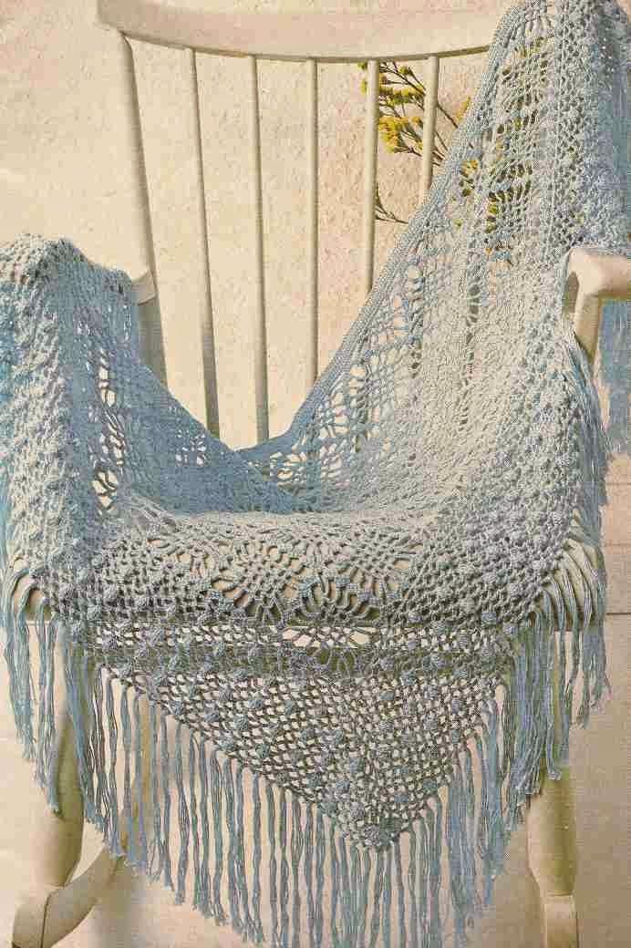 Chal o Poncho de Algodón a Crochet