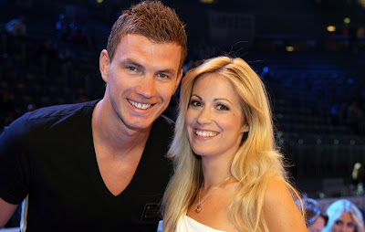 Photo of Edin Dzeko & his  Sister  Merima Džeko