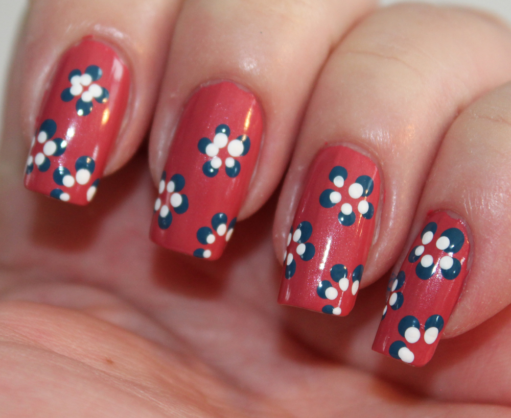 Day Five Of The Seven Days Of Floral Nail Art Tutorials Dots Set