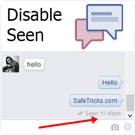 How To Disable/Hide Seen On Facebook Chat/Messages