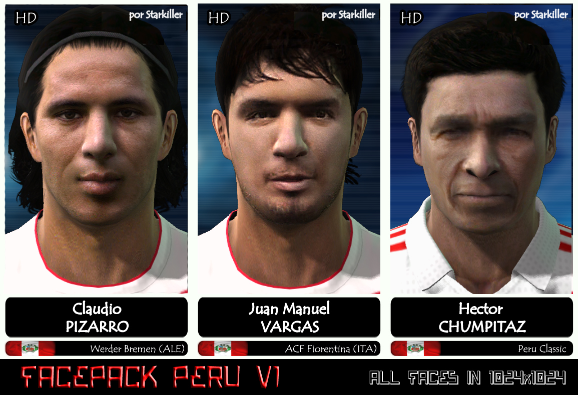 FACEPACK PERU V1 – HD FACES