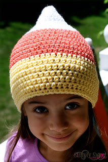 Candy Corn Beanie by Simply Sweet