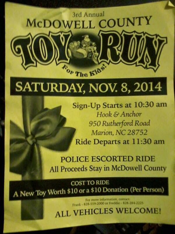 McDowell County Toy Run