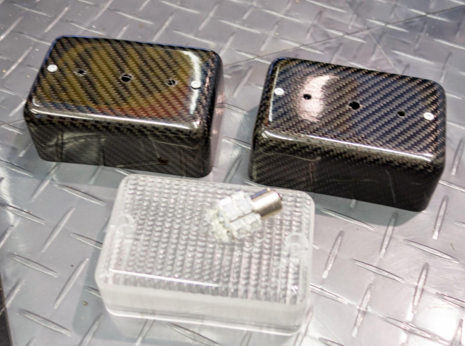 Caterham Carbon Reverse Light and Fog Light Mounts.
