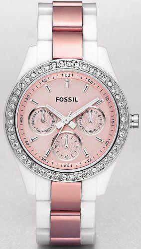 Desejo do dia - Acessorios Relógio prata e rosa da Fossil