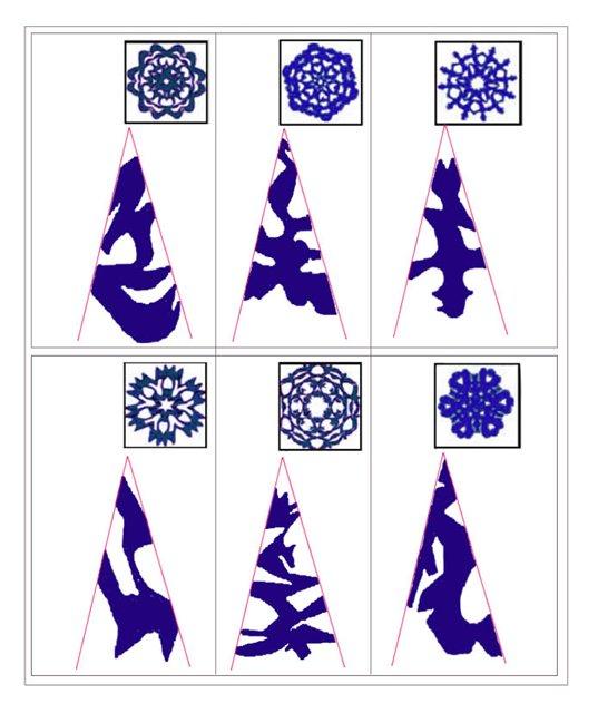 Как сделать из бумаг узоры 144