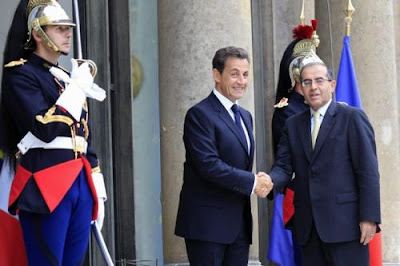 Global Hypocrisy: France Arming Libyan Rebels Nicolas%2BSarkozy%2BMahmoud%2BJebril%2BElwarfally