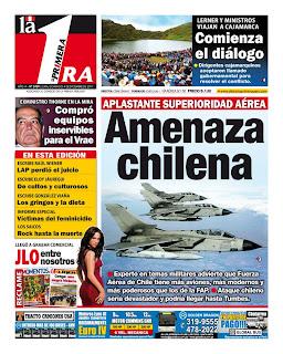 Artículo peruano: Aplastante ventaja aérea de Chile amenaza al Perú