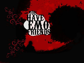 You Have EMO Friends Dark Gothic Wallpaper