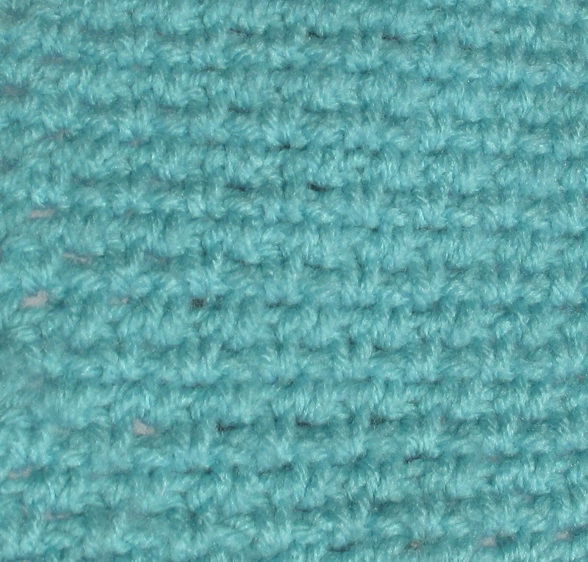 Crochet Stitches Moss Stitch : ReCrochetions: Sampler Square #1 - Single Crochet Moss Stitch
